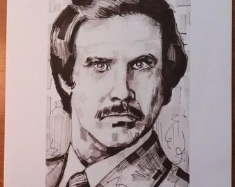 A Portrait Of Ron Burgundy