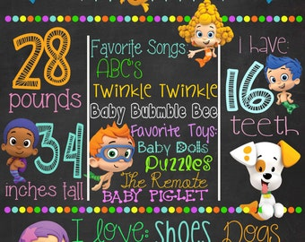 Bubble Guppies Birthday Sign