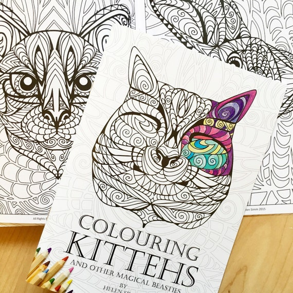 Colouring Kittehs and Other Magical Beasties - A5 Colouring Book