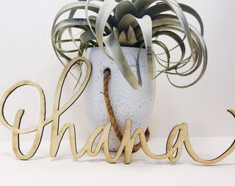 Ohana Wall Hanging-Hawaii Calligraphy