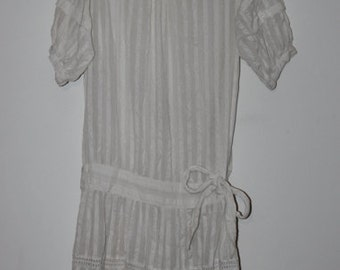 COTTON DROPWAIST DRESS