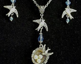 Birds Jewelry Set, Free Shipping