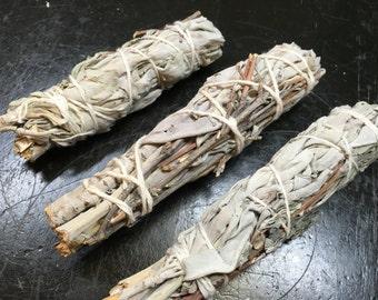 "Lavender Sage Smudge Stick - dried lavender bundle - white sage bundle - California white sage - smudge - smudge stick - 3 - 4"" smudge stick"