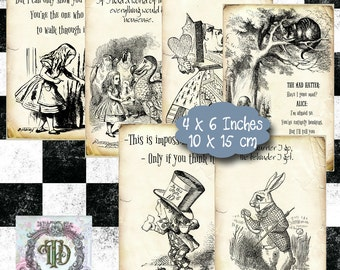 Alice in Wonderland Tags Set 2