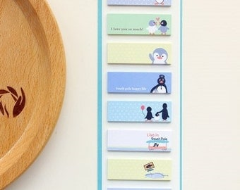 Kawaii Penguin Sticky Note - Penguin Planner Sticky Note