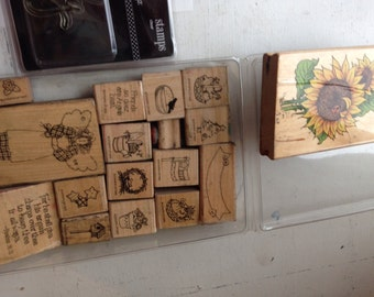 Used Random Rubber Printing Stamps