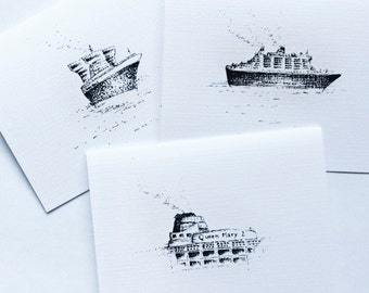 Greetings from QM2 ~ Themed 3-pack | Greeting Cards