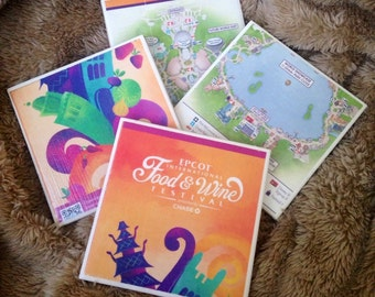 Disney Park Map Coasters (Set of 4)