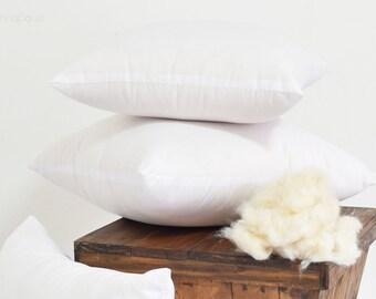"100% Natural Kapok Pillow Inserts : Organic Pillow Filling, Pure Organic Kapok, Hypoallergenic Pillow, Java Cotton, Zipped 16"", 18"" 20"", 22"""