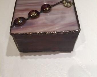 Handmade Stained Glass Jewelry Box