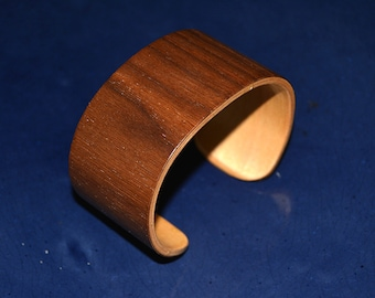 Handmade wood cuff bracelet New Guinean wood