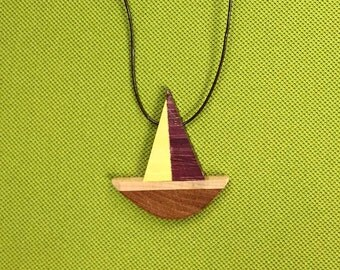 Handmade boat necklace