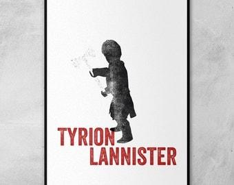 Game of Thrones | Tyrion Lannister | Eddard Stark | Sandor Clegane | Oberyn Martell | Silhouette Stamps | Minimal Artwork