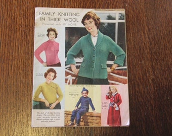 Family Knitting In Thick Wool (Presented by MY HOME) pattern booklet