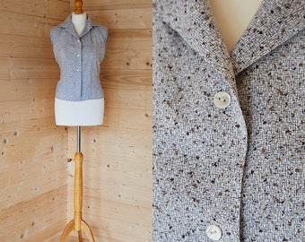 1950's abstract printed sleeveless shirt