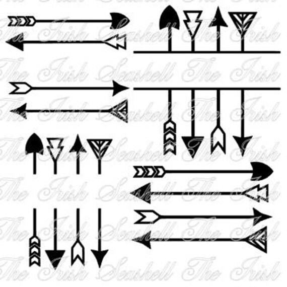 four arrow frame tribal frames for silhouette cameo or other