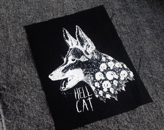 Hell Cat - Screen printed sew on patch