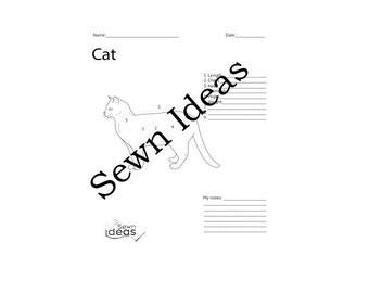 Printable CAT measurement worksheet - measurement worksheet - printable clothing measurement for cats - sewing cat ebook
