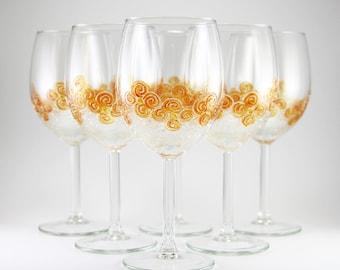 Wedding Wine Glasses, Hand Painted Wedding Glasses. Wedding Personalized Gift, Bridal Party Gift, Toasting Wedding Glasses