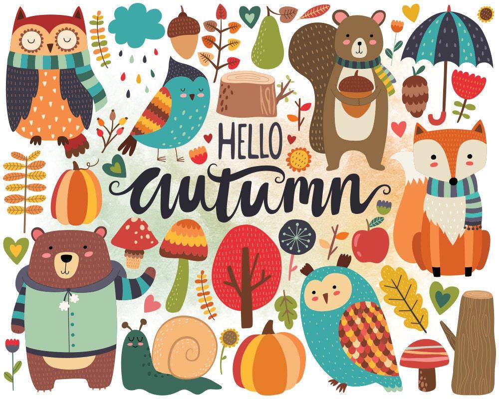 autumn woodland clipart fall clipart autumn clip art