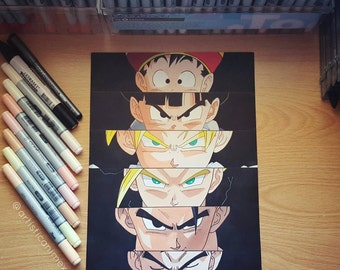"Anime Eyes: Gohan - Dragonball Z 8x12"" Print"