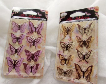 3D Butterfly Stickers with Raised Wings