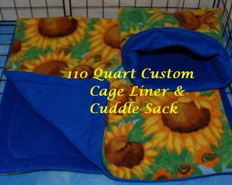 110 Quart Steralite Hedgehog Guinea Pig Liner and Cuddle Sack