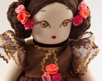 Ballerina Fiorella - Handmade Collection Cloth Dolls by Manolitas