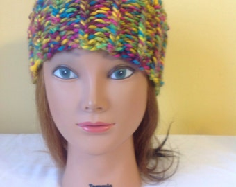 Hand Knit Girls Hat