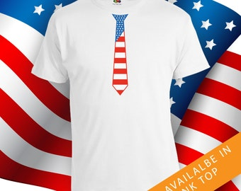 Fourth of July necktie shirt - happy 4th of july shirt men and women, independence day, fourth of july, july 4th shirts, july fourth CT-466