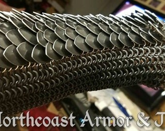 Custom Chain and Scale Mail Bracers