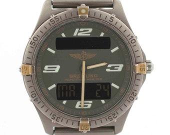 Breitling Aerospace F65362 Titanium/Gold Plated Ana/Digi Quartz Men's Watch