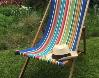 Promotion! Up-cycled recovered Vintage British Deckchair