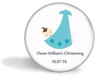 Christening Favour Magnet Set of 20  - Baby Boy in Sling  5.7cm (2.25 inches)