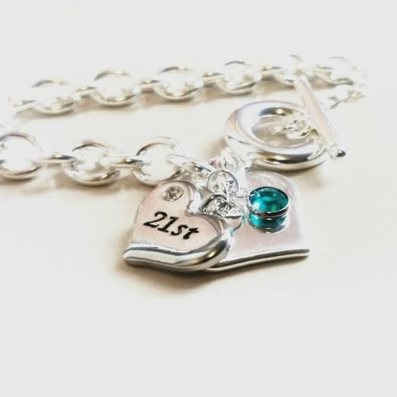 21st Birthday Gift 21st Birthday Gift Bracelet Jewelry