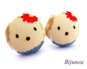 Bear earrings - Brown bear stud earrings - Bear studs - Bear posts - Brown bear post earrings sf688