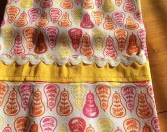 Pear Print Appliqued Tea Towel (1)