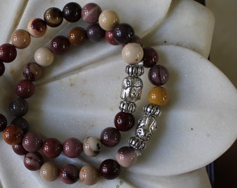Mookaite Jasper Buddha Bracelet