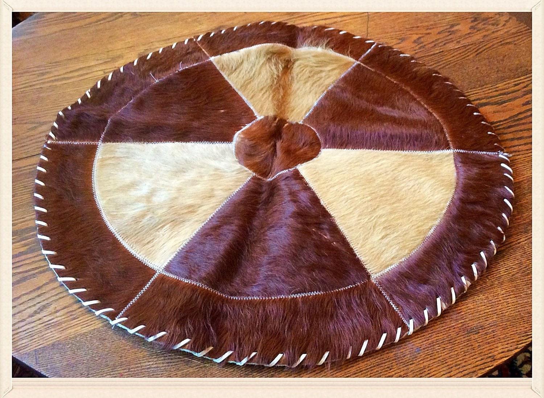 Hang Rug On Wall: Handmade Vintage Cowhide Rug / Wall Hanging. Genuine Hereford
