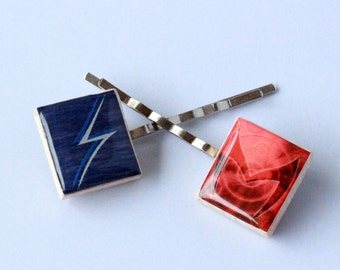 Quicksilver and Scarlet Witch Inspired Scrabble Tile Bobby Pins - Marvel Inspired