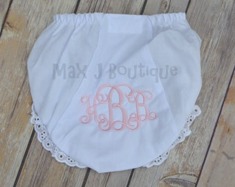 Monogrammed Bloomers - Personalized Diaper Cover