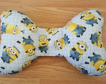 Minion Infant Head Support - Torticollis - Positional Plagiocephaly - Elephant Ear Pillow - Car Seat Head Support - Unique Baby Shower Gift
