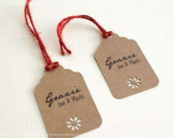 Tags for Kraft favor box