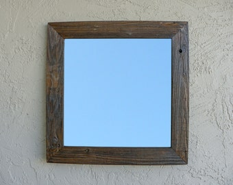 Reclaimed Wood Mirror. Rustic Mirror. Eco Friendly. Framed Mirror. Bathroom Mirror. Wooden Mirror. Framed Mirror. Wedding Gift.
