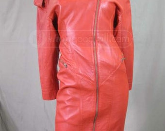 Red North Beach Leather Dress