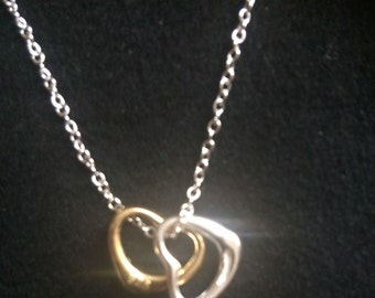 Handmade Twin Heart Necklace
