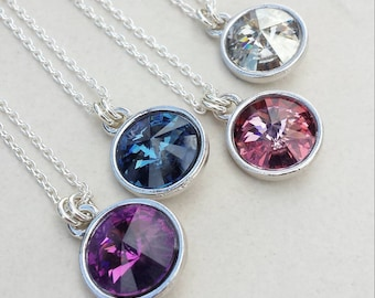 Layering Necklace/Layering Jewelry/Swarovski Crystal Necklace/Pendant Necklace/Free Ship Canada /Ready to Ship