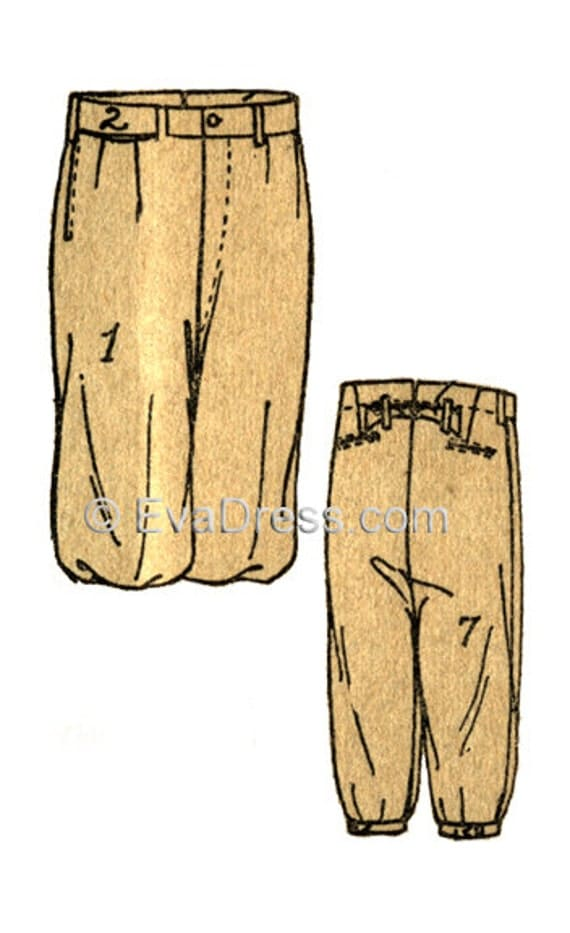 Did Women Wear Pants in the 1920s? Yes! sort of… 1920s Plus Fours or Golfing Knickers EvaDress Pattern  AT vintagedancer.com