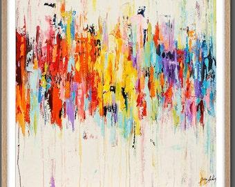 Wall Art  Print Painting PRINT GICLEE print, abstract painting abstract art wall art with rosa and white. Modern Painting Jolina Anthony