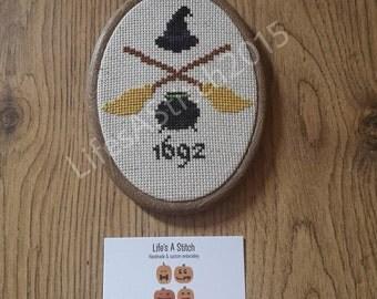 Salem 1692 - Mounted Cross Stitch